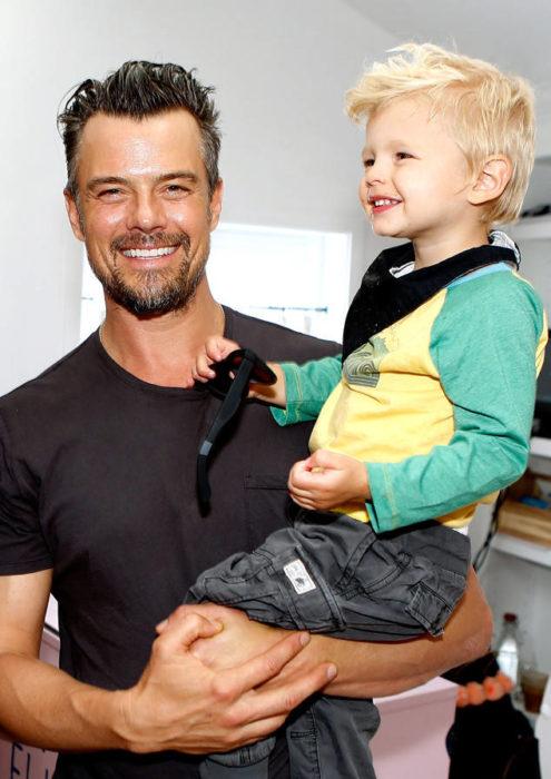 Josh Duhamel y su hijo