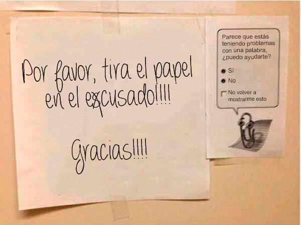 Notas sarcásticas trabajo - tira papel escusado