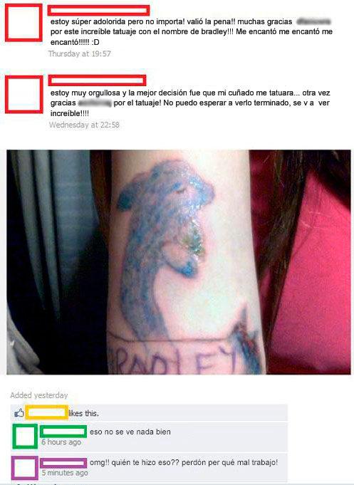 Fails tatuajes - delfín feo