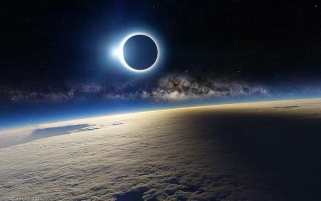 eclipse solar visto desde satélite