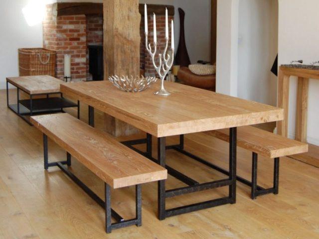 mesa brillo madera