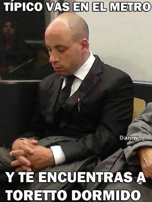 Vin Diesel en el transporte público