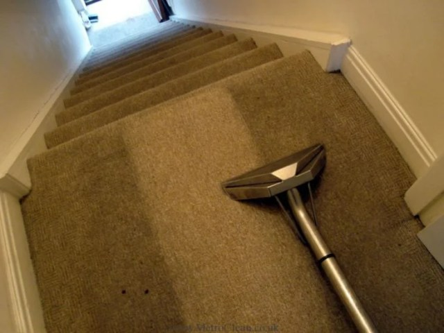 Alfombra sucia y alfombra limpia