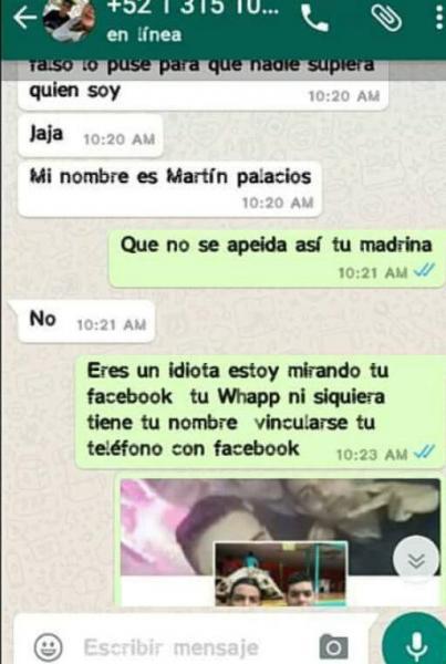 Chantaje WhatsApp - mi nombre es martín palacios