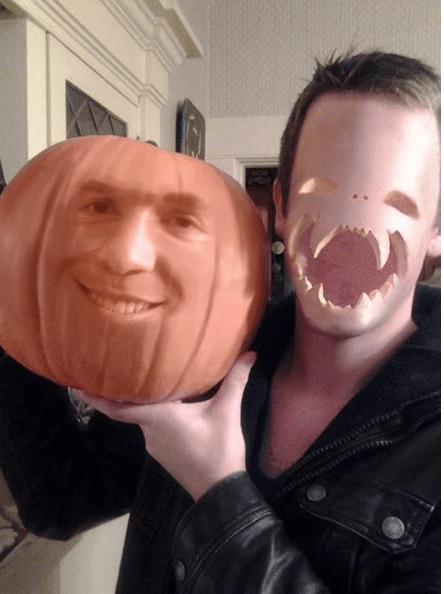 listo para la celebración de halloween