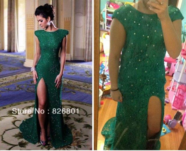 vestido verde internet