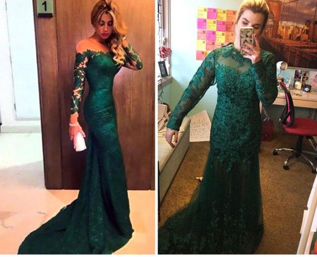 vestido verde fails