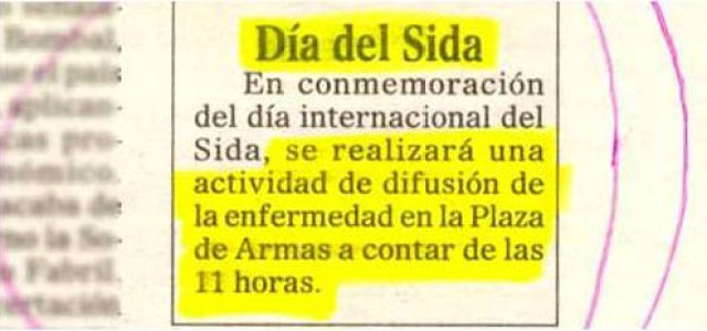 Nota periódico - Día del Sida, habrá difusión de la enfermedad
