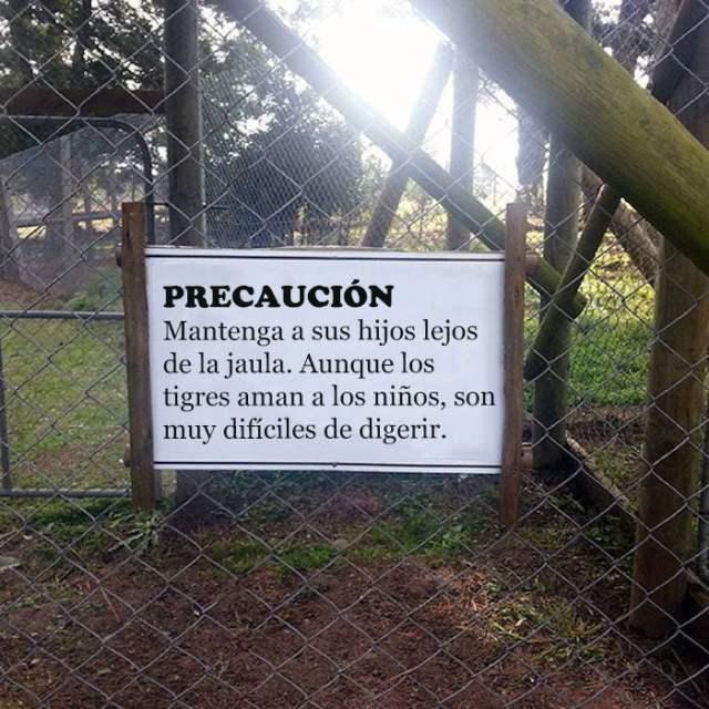 precaución tigres niños