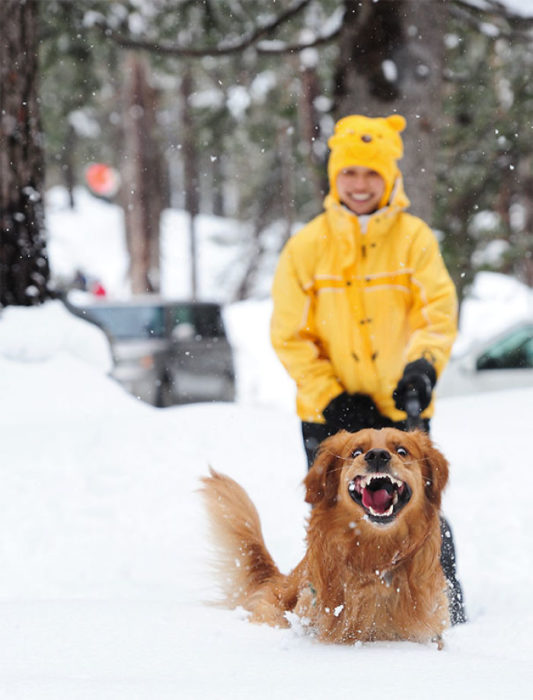 jugando con nieve
