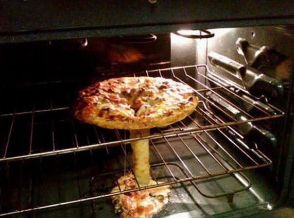 pizza estilo bomba nuclear