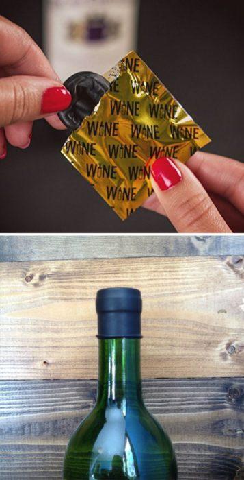condones para cubrir vino