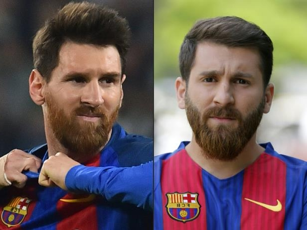 messi y Reza Parastesh