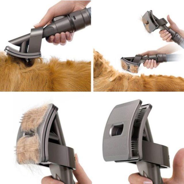 Cepillo para perritos que deja eliminar el cabello de forma fácil