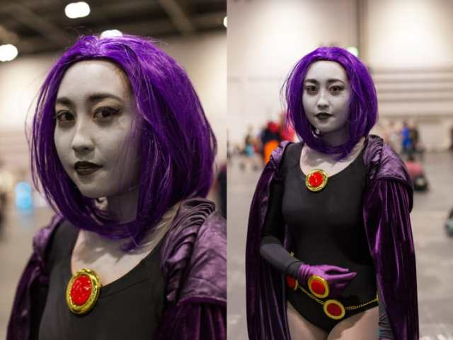 raven disfraz cosplay jovencitas titanes