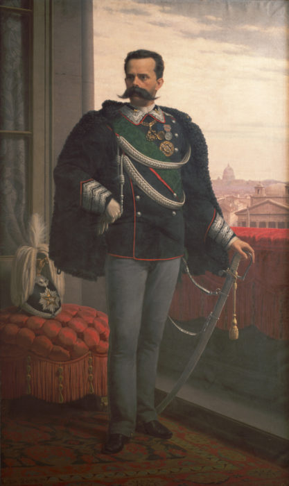 retrato del rey Umberto I de Italia