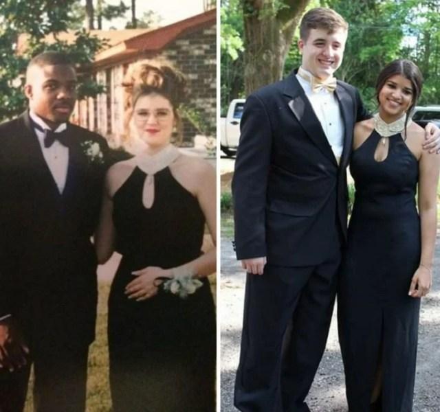 El mismo vestido que su mamá utilizó en su graduación Negro