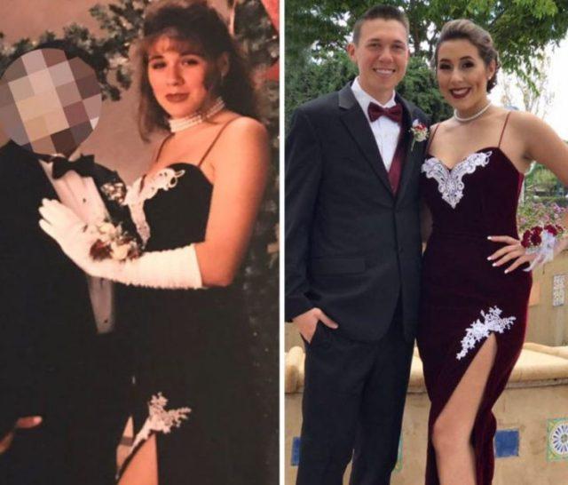 el mismo vestido que su madre