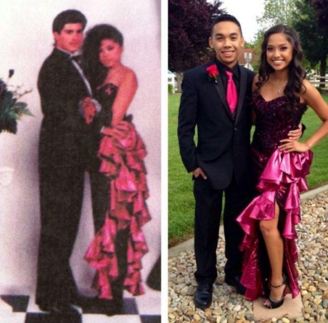 rumbera El mismo vestido que su mamá utilizó en su graduación