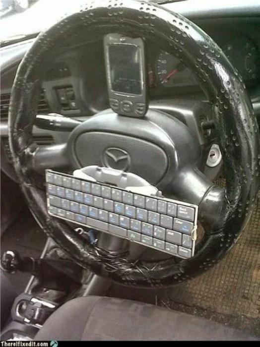 automovil inteligente volante smartphone