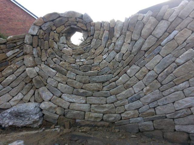 piedras pared perfecta