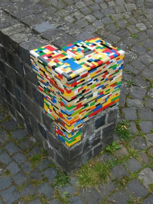 piezas de lego utilizadas para recostruir pilar