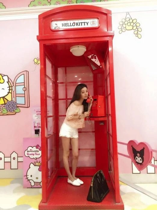 hello kitty chavala tierna caseta telefónica