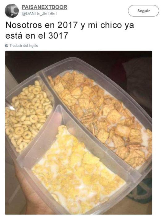 Vida en 3017 - 3 cereales en 1.
