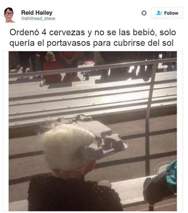abuela visera para el sol