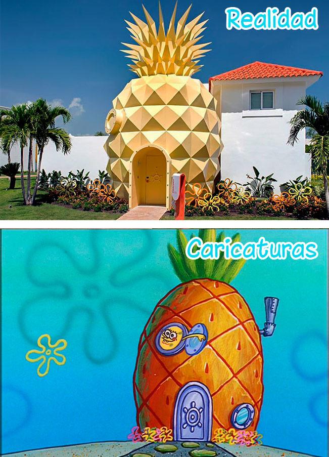 10 Famosas casas de dibujos animados que existen en la