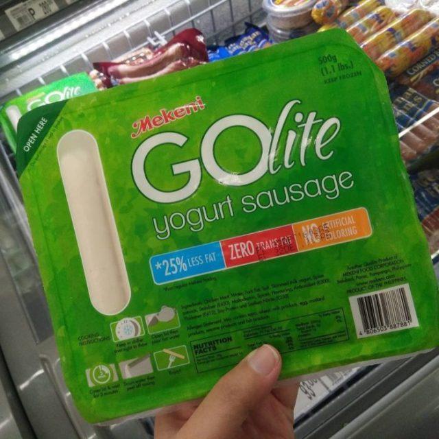 salchichas de yogurth