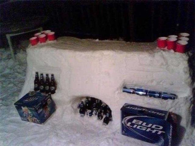 nieve usada cual refrigerador natural