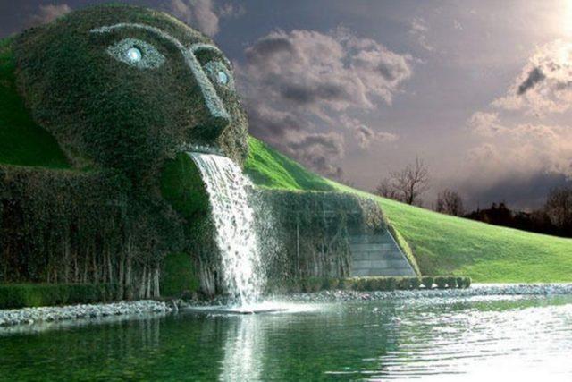 fuente Swarovski situada en Asutria