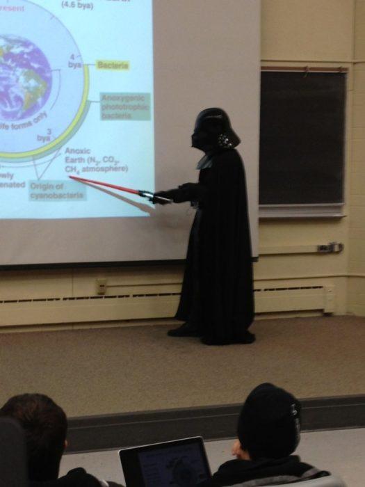 Profesor escuela clases Darth Vader