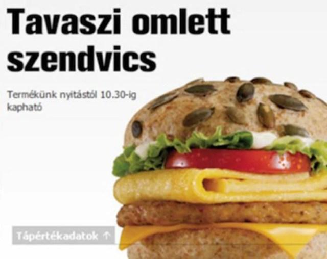 McPumpkin Omelet Sandwich