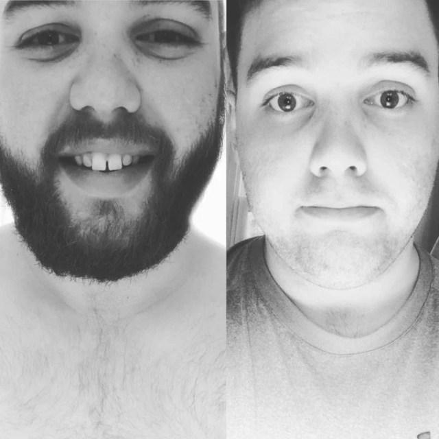 foto de instragram de un joven que afeito su barba