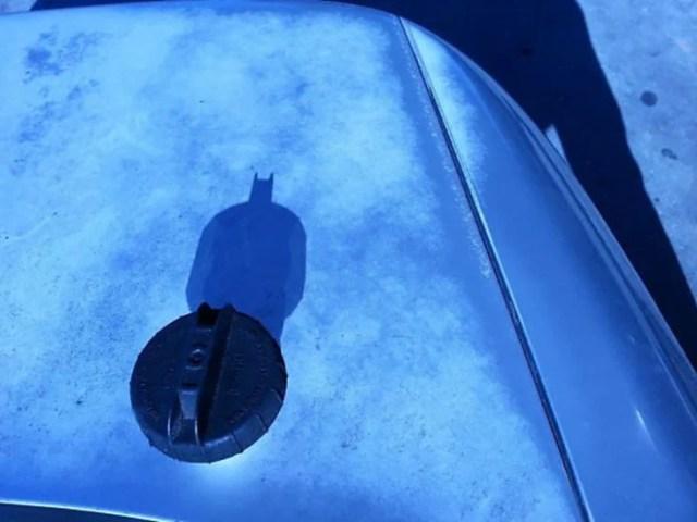 tapón que sombra constituye a batman