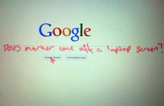 Mala busca en google todo sale mal