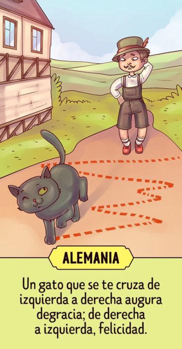 Supersticiones del planeta ilustración Alemania