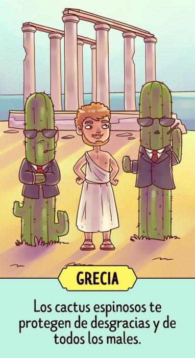 grecia Supersticiones del planeta ilustración