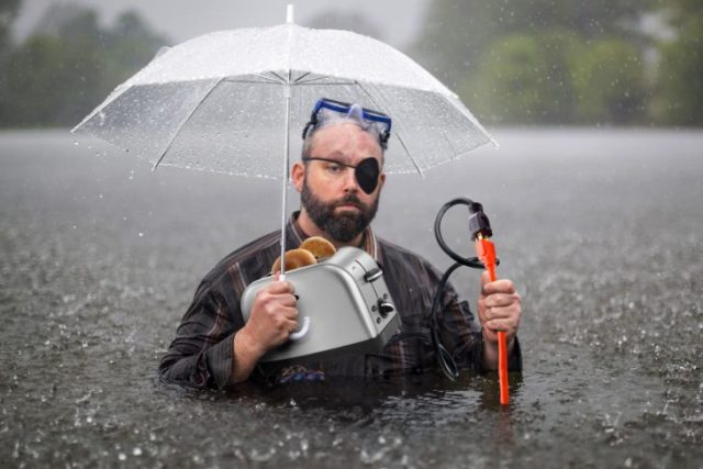tostador pirata lluvia
