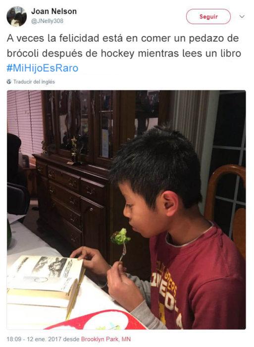Tuits pequeños ajenos - comiendo brócoli