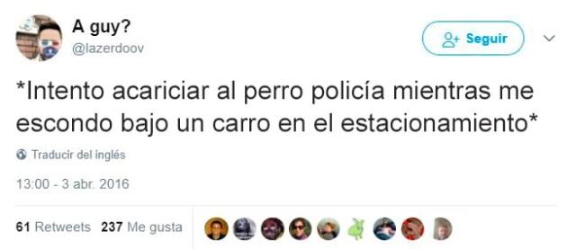 Tuits perritos policías
