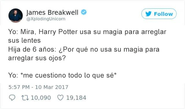 Tuits progenitores - harry potter