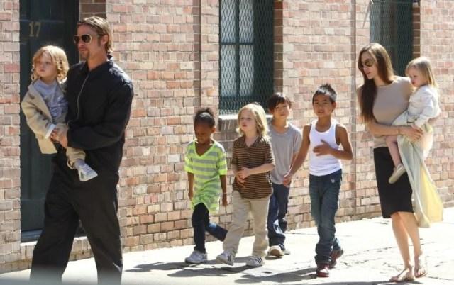 Brad Pitt familia numerosa