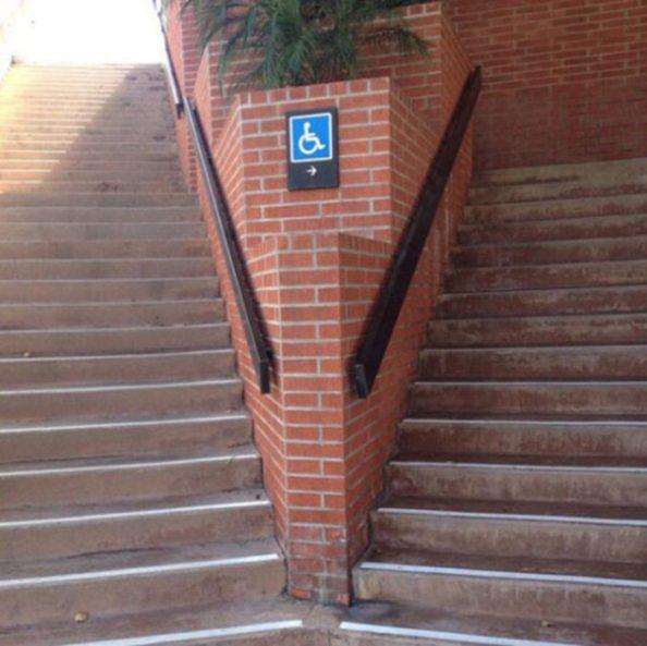 escaleras discapacitados fail