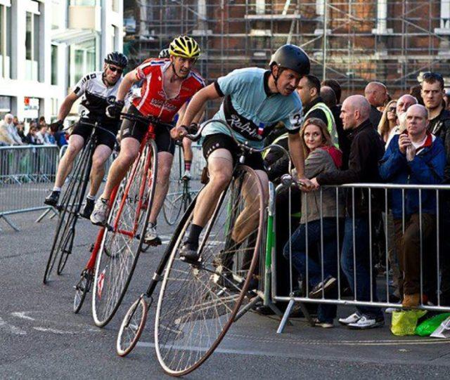 carrera de bicis antiguas