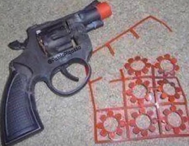 Pistolas que echaban humo