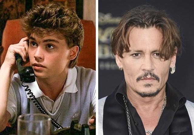 Johnny Deep Antes y después pequeños películas de terror