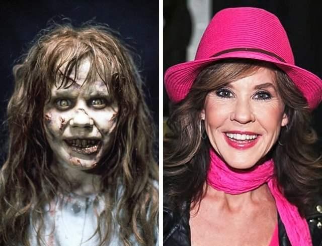 Antes y después pequeños películas de terror Linda Exorcista